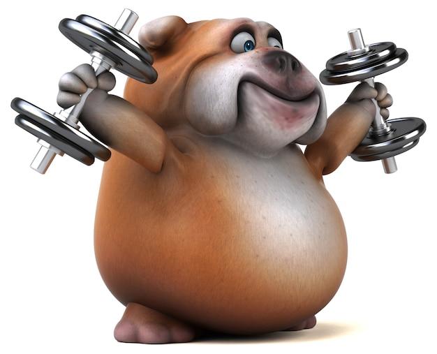 Zabawna ilustracja buldoga