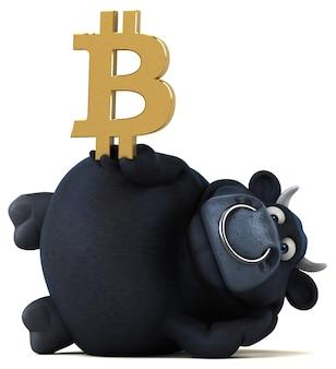 Zabawna ilustracja byka