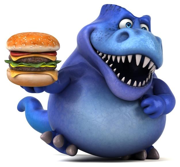 Zabawna ilustracja dinozaura