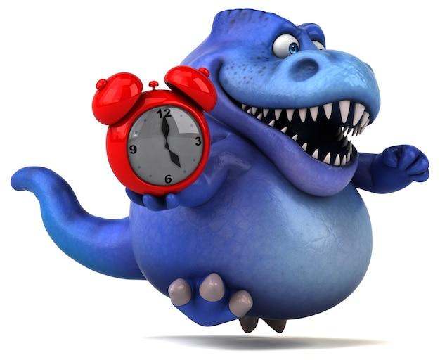 Zabawna ilustracja dinozaurów