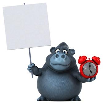 Zabawna ilustracja goryl