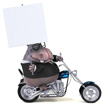 Zabawna ilustracja hipopotam