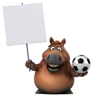 Zabawna ilustracja koń 3d