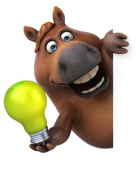 Zabawna ilustracja konia
