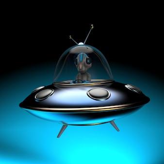 Zabawna ilustracja kosmity