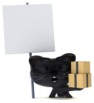 Zabawna ilustracja kota
