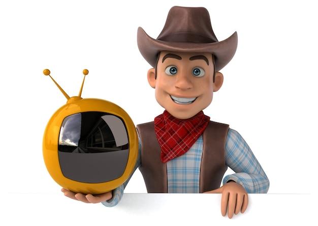 Zabawna ilustracja kowboja