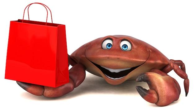 Zabawna ilustracja kraba