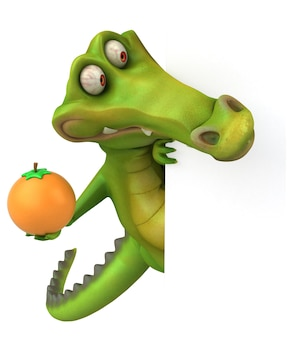 Zabawna ilustracja krokodyla