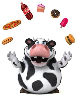 Zabawna ilustracja krowa