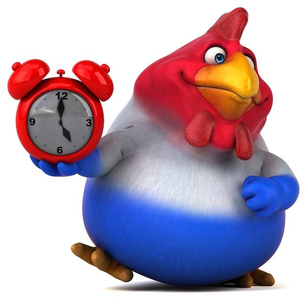 Zabawna ilustracja kurczaka