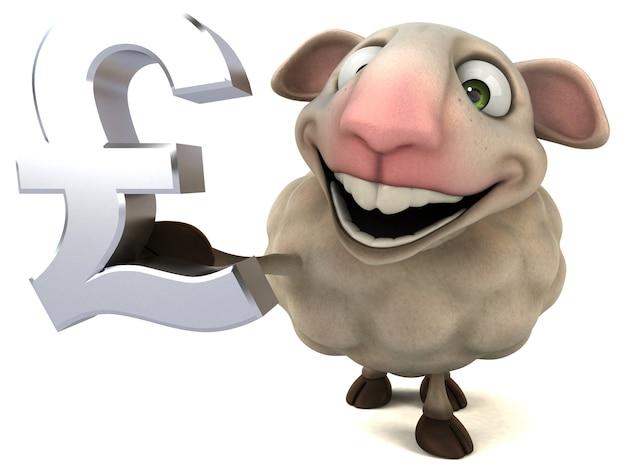 Zabawna ilustracja owiec