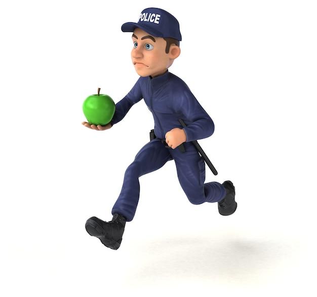 Zabawna ilustracja policjanta kreskówek