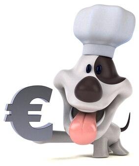 Zabawna ilustracja psa