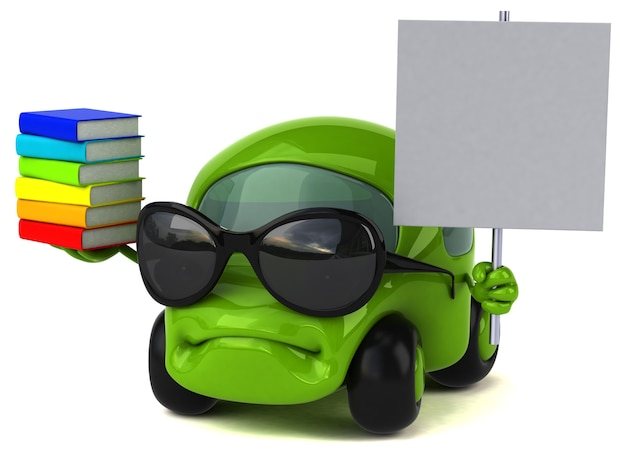 Zabawna ilustracja samochodu