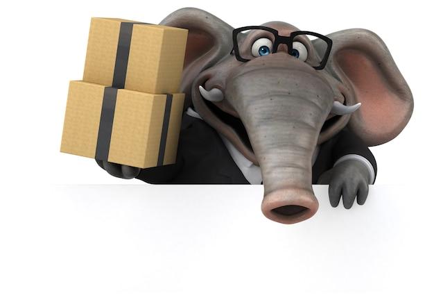 Zabawna ilustracja słonia