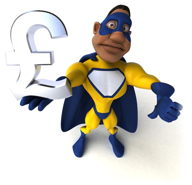 Zabawna ilustracja superbohatera