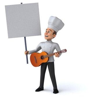 Zabawna ilustracja szefa kuchni