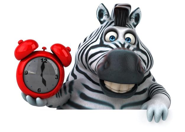 Zabawna ilustracja zebry