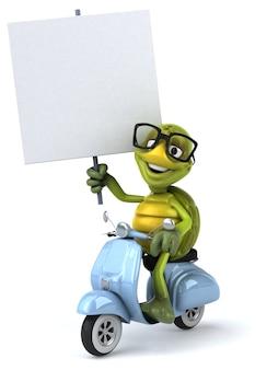 Zabawna ilustracja żółw