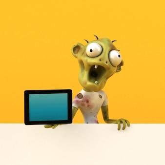 Zabawna ilustracja zombie