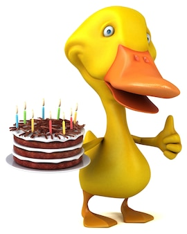 Zabawna kaczka - ilustracja 3d