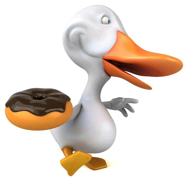 Zabawna kaczka ilustracja