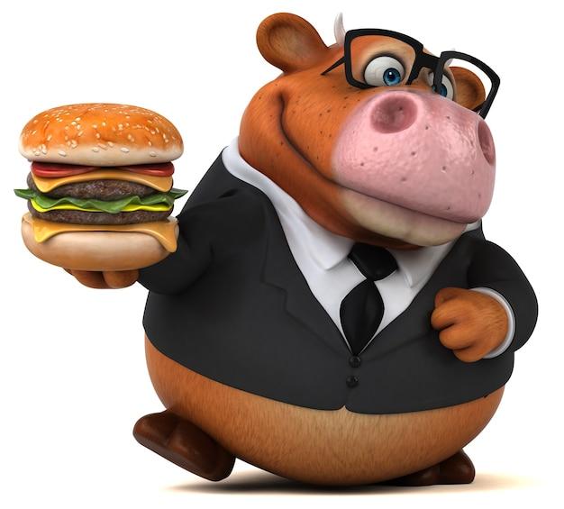 Zabawna krowa - ilustracja 3d