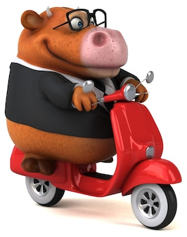 Zabawna krowa - postać 3d
