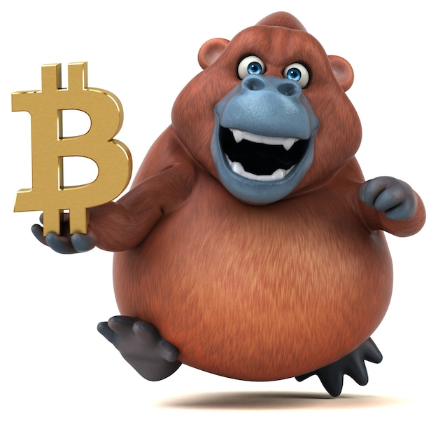 Zabawna orang outan - ilustracja 3d