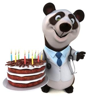 Zabawna panda - ilustracja 3d
