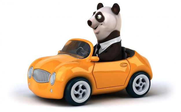Zabawna panda