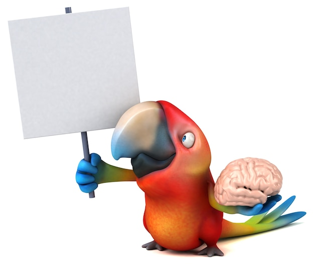 Zabawna papuga