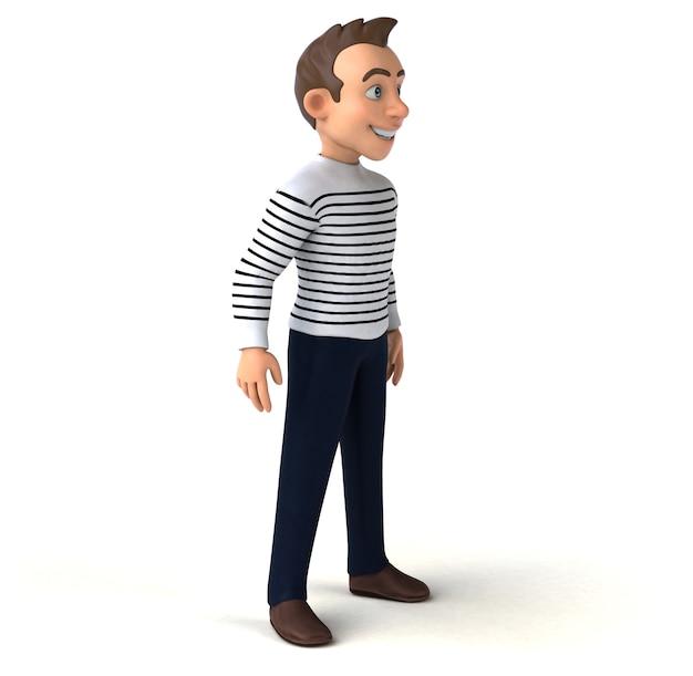 Zabawna postać z kreskówki 3d na co dzień