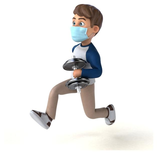 Zabawna postać z kreskówki dla dzieci z maską