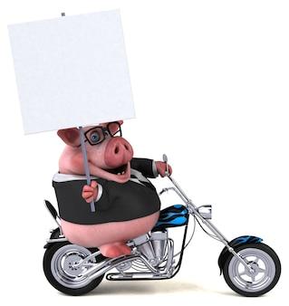 Zabawna świnia - ilustracja 3d