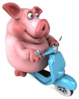 Zabawna świnia - postać 3d