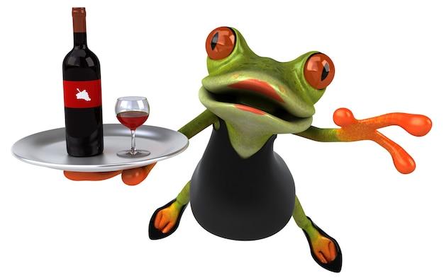 Zabawna żaba - ilustracja 3d