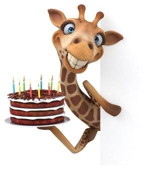 Zabawna żyrafa - ilustracja 3d