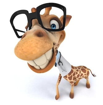Zabawna żyrafa