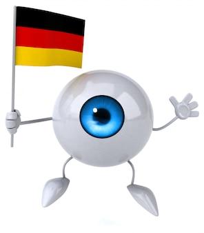Zabawne oko - postać 3d