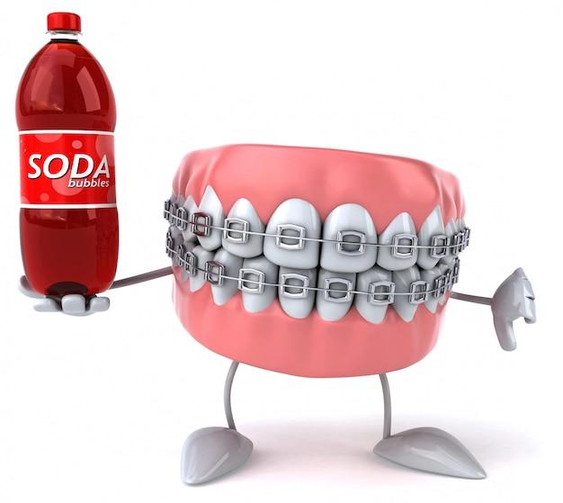 Zabawne zęby - postać 3d