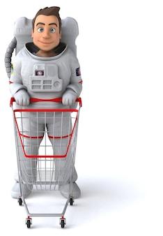 Zabawny astronauta - postać 3d