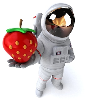 Zabawny astronauta - renderowanie 3d