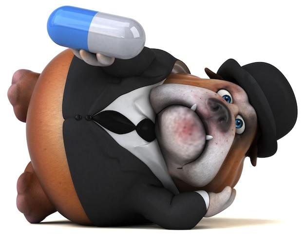 Zabawny buldog - ilustracja 3d