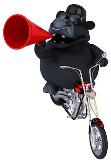 Zabawny byk - postać 3d