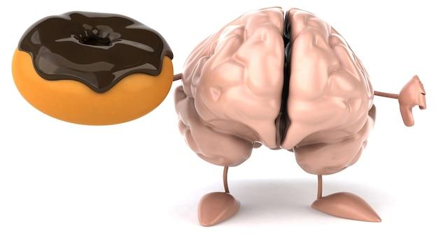 Zabawny charakter 3d mózgu