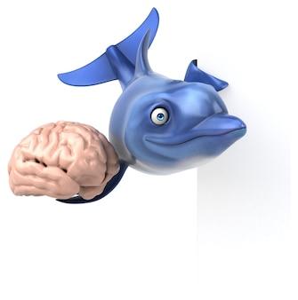 Zabawny delfin - ilustracja 3d