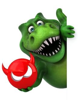 Zabawny dinozaur - ilustracja 3d