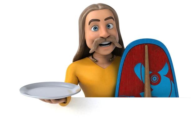 Zabawny gaulois - postać 3d